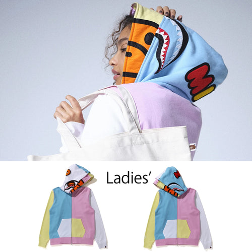 A BATHING APE Ladies' MILO SHARK FULL ZIP HOODIE