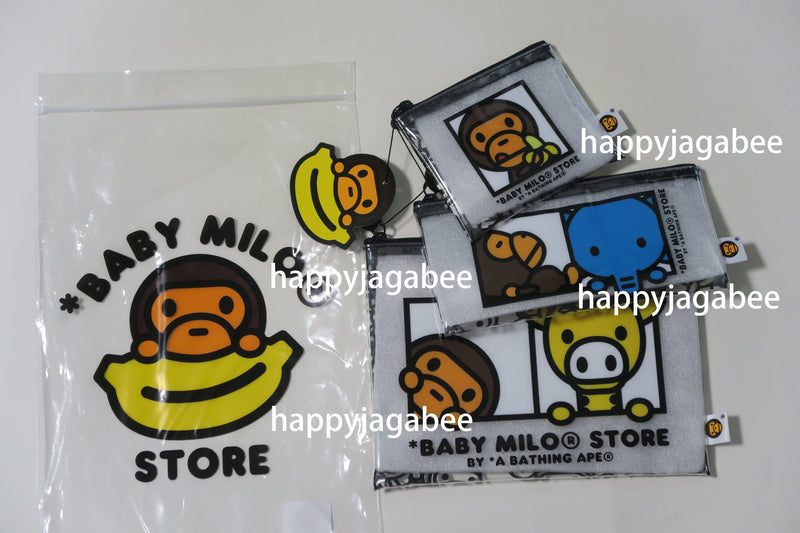 A BATHING APE BABY MILO STORE POUCH SET OF 3 - happyjagabee store
