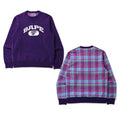 A BATHING APE BAPE CHECK CREWNECK