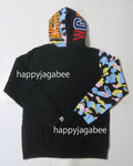 A BATHING APE Ladies' NEW MULTI CAMO SHARK FULL ZIP HOODIE