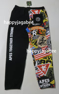 A BATHING APE PATCHED SHARK SWEAT PANTS - happyjagabee store