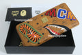 A BATHING APE MCM x BAPE SHARK ZIP AROUND WALLET - happyjagabee store