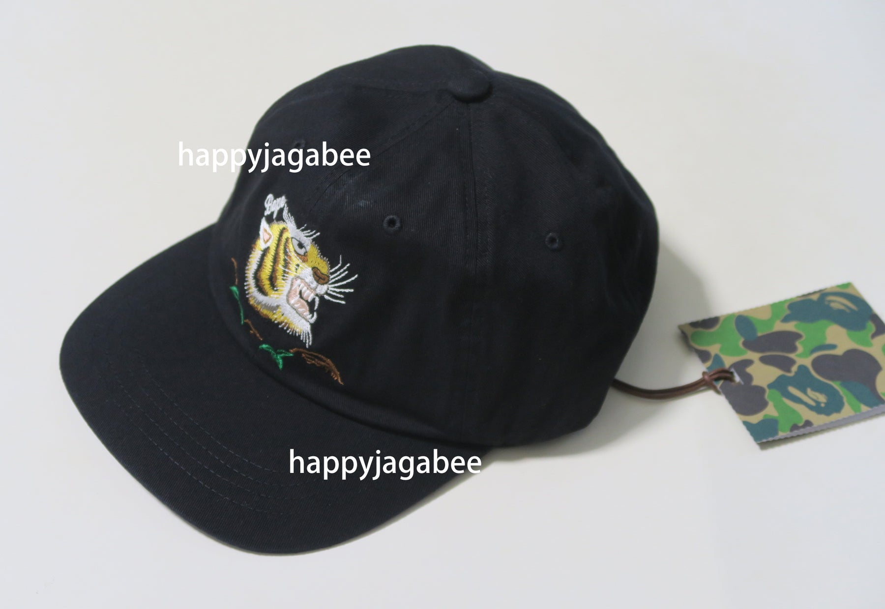 14581845e7680 A BATHING APE TIGER EMBROIDERY PANEL CAP – happyjagabee store