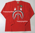 A BATHING APE SHARK L/S TEE - happyjagabee store