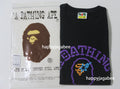 A BATHING APE NEON SIGN COLLEGE TEE - happyjagabee store