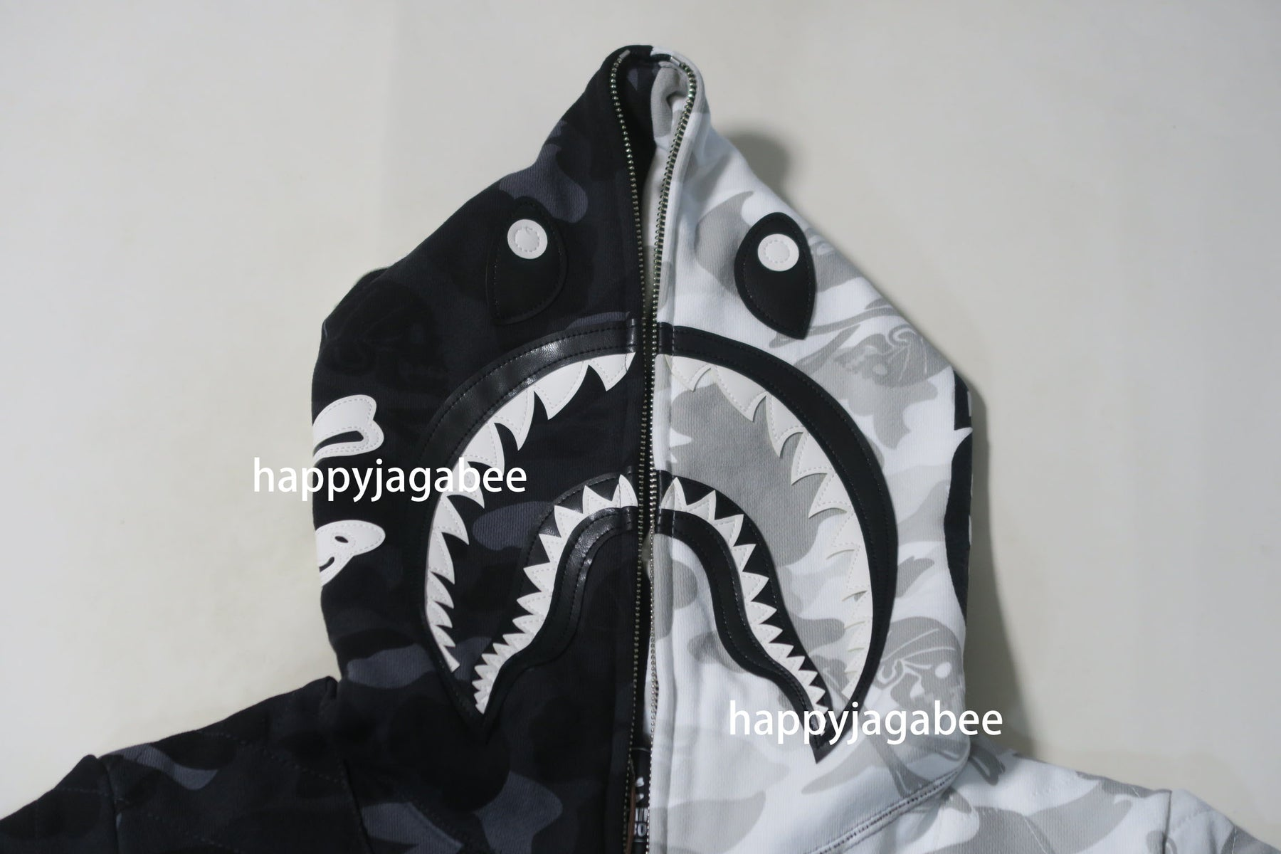 0452f3ee7 ... A BATHING APE x NEIGHBORHOOD BAPE NBHD CAMO SHARK FULL ZIP HOODIE ...