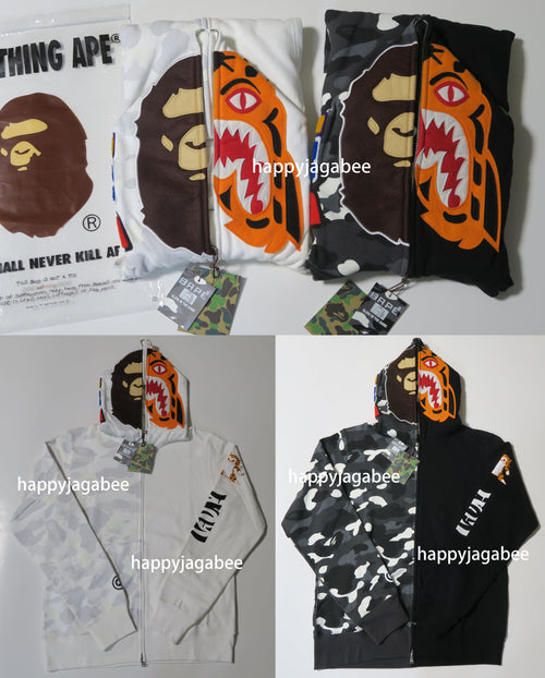 4a71e8146d57 A BATHING APE CITY CAMO 2ND APE TIGER FULL ZIP HOODIE - happyjagabee store