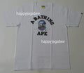 A BATHING APE PATCHWORK COLLEGE TEE - happyjagabee store