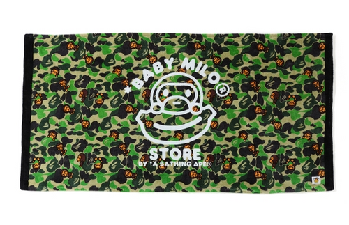 A BATHING APE BABY MILO STORE ABC MILO BATH TOWEL - happyjagabee store