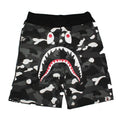 A BATHING APE CITY CAMO SHARK SWEAT SHORTS - happyjagabee store