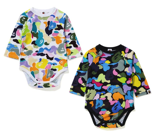 A BATHING APE BAPE KIDS MULTI CAMO BODYSUIT