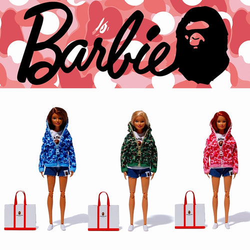 Sale! A BATHING APE BAPE x BARBIE DOLL 3 colors Complete Set Japan Exclusive - happyjagabee store