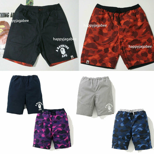 A BATHING APE COLOR CAMO REVERSIBLE SHORTS