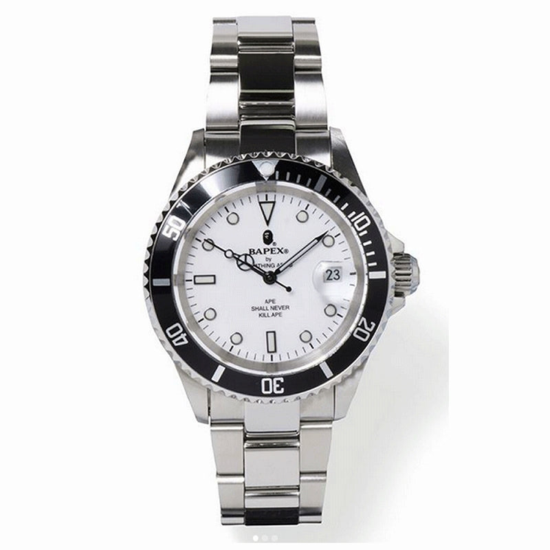 A BATHING APE TYPE-1 BAPEX WATCH SILVER - happyjagabee store