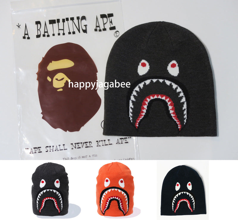A BATHING APE Men's SHARK KNIT CAP - happyjagabee store
