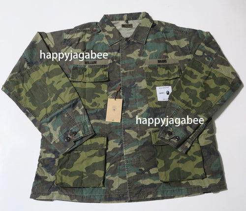 A BATHING APE x WTAPS BAPE JUNGLE L/S SHIRT - happyjagabee store