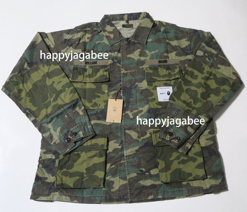 A BATHING APE x WTAPS BAPE JUNGLE L/S SHIRT