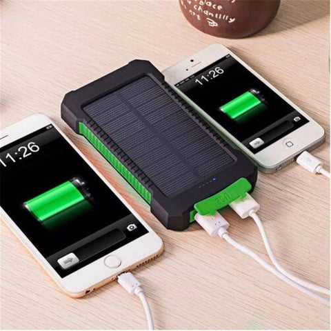 Portable Waterproof Solar Power Bank 10000 MAh With Dual-USB