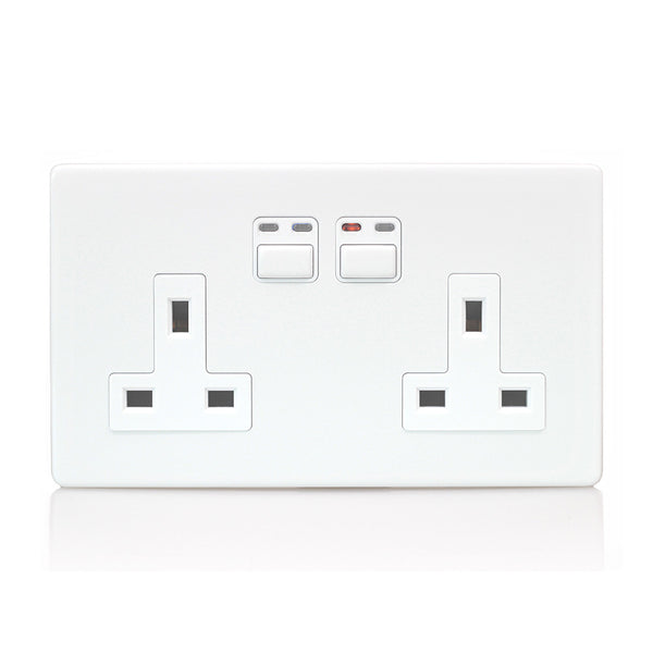 LightwaveRF 2 Gang 13A Smart Socket