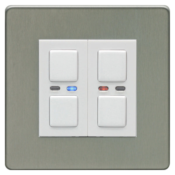 LightwaveRF 2 Gang Dimmer