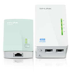 TP-Link AV600 Powerline Booster with AC Pass Through, Starter Kit