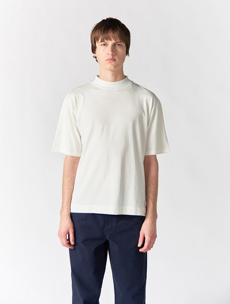 Abel Mock Neck Crew Men - Ecru