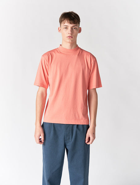 Abel Mock Neck Crew Men - Salmon