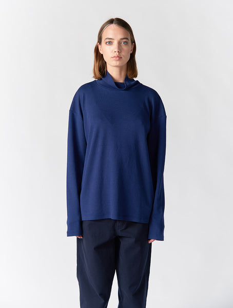 Korey Turtle Neck Long Sleeve Women - Blue