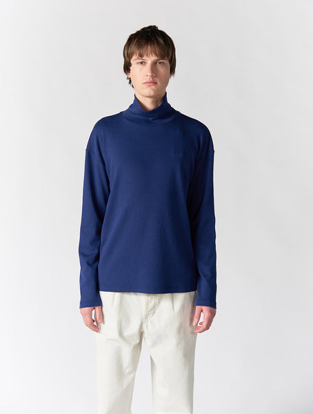 Korey Turtle Neck Long Sleeve Men - Blue