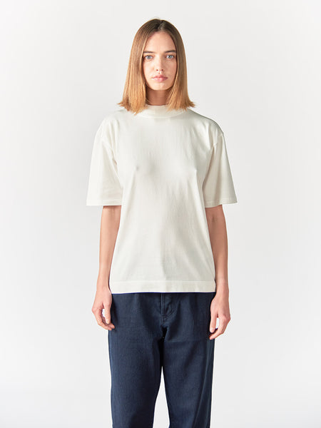 Abel Mock Neck Crew Women - Ecru