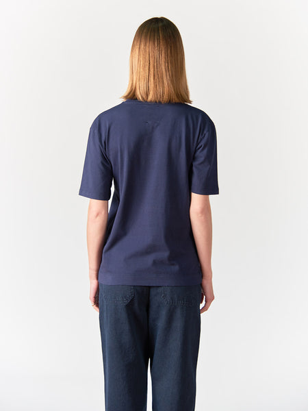 Abel Mock Neck Crew Women - Blue