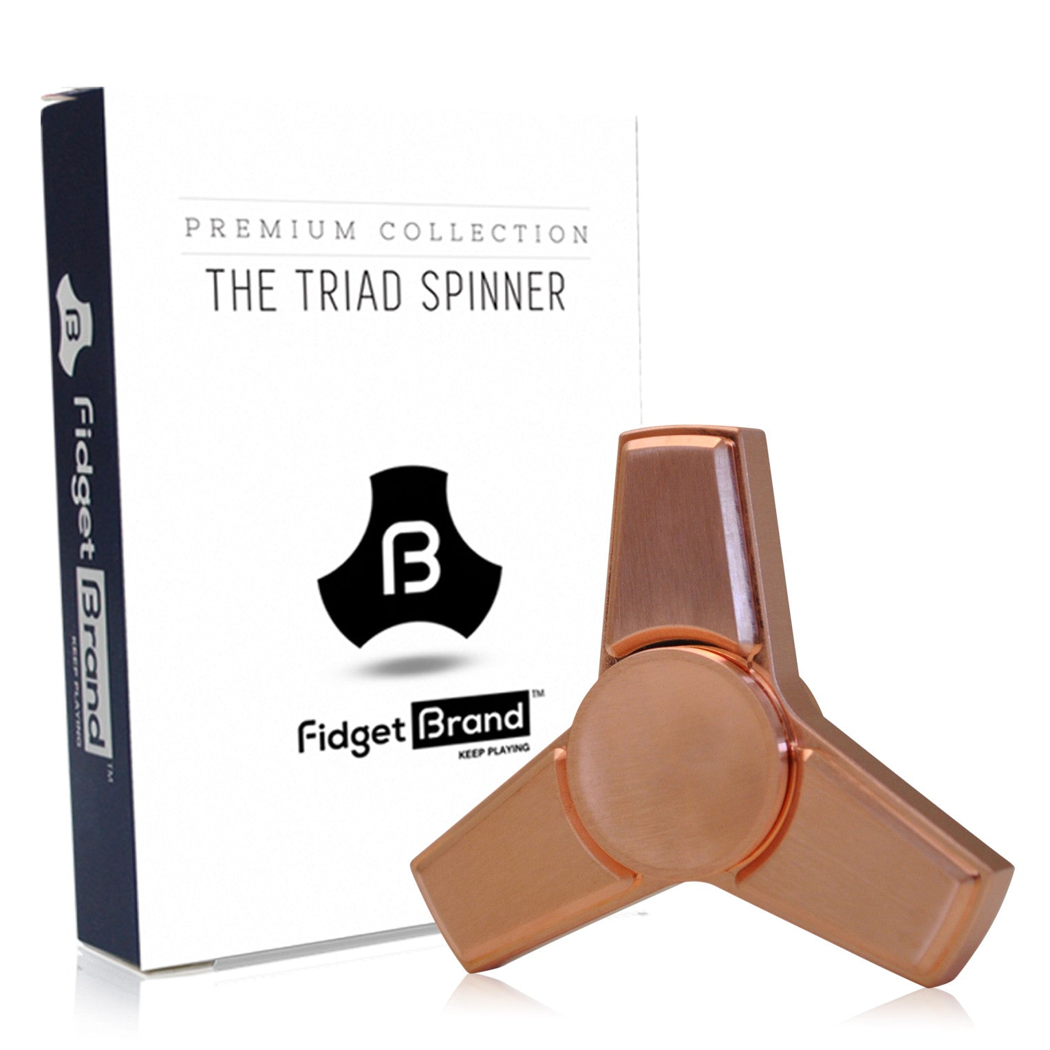 The Triad Fidget Spinner by Fidgetbrand, Rose Gold/Copper