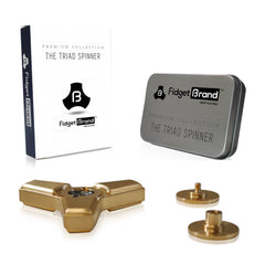 The Triad Fidget Spinner by Fidgetbrand, Gold/Brass