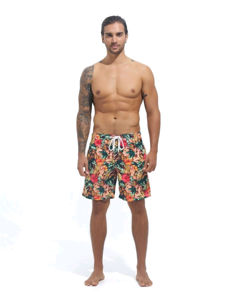 NUSA BOARDSHORTS in Tropical Gangster (knee length)