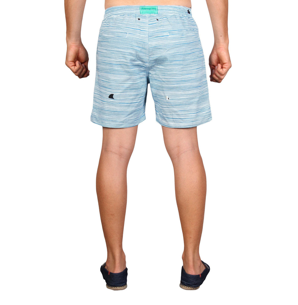 MARINA WALKSHORTS - Shark Fin stretch cotton twill