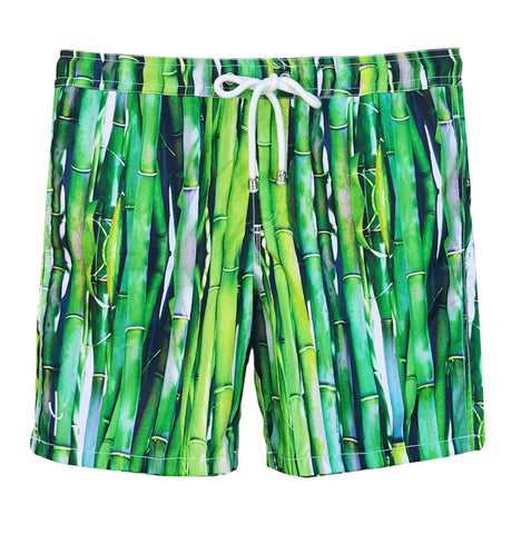 NUSA BOARDSHORTS in Aqua Palm (knee length)
