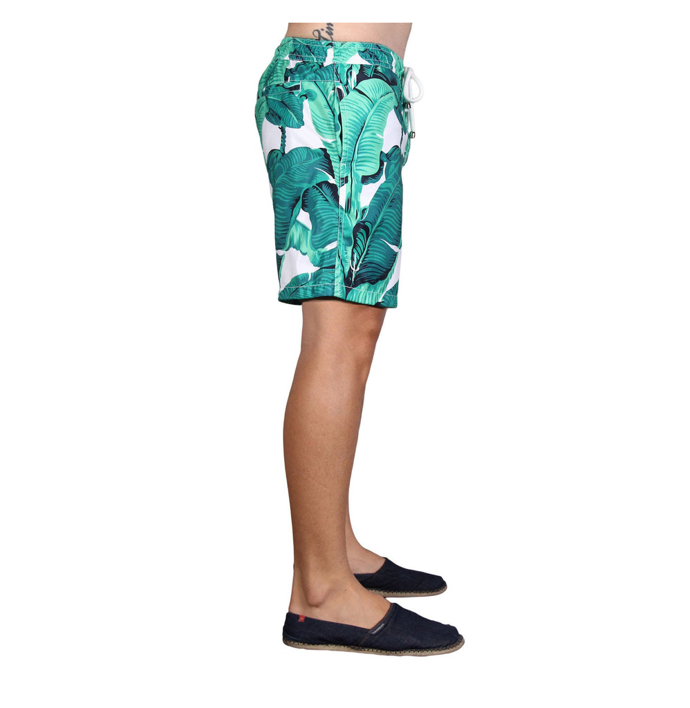 NUSA BOARDSHORTS in Banana Leaf (knee length)