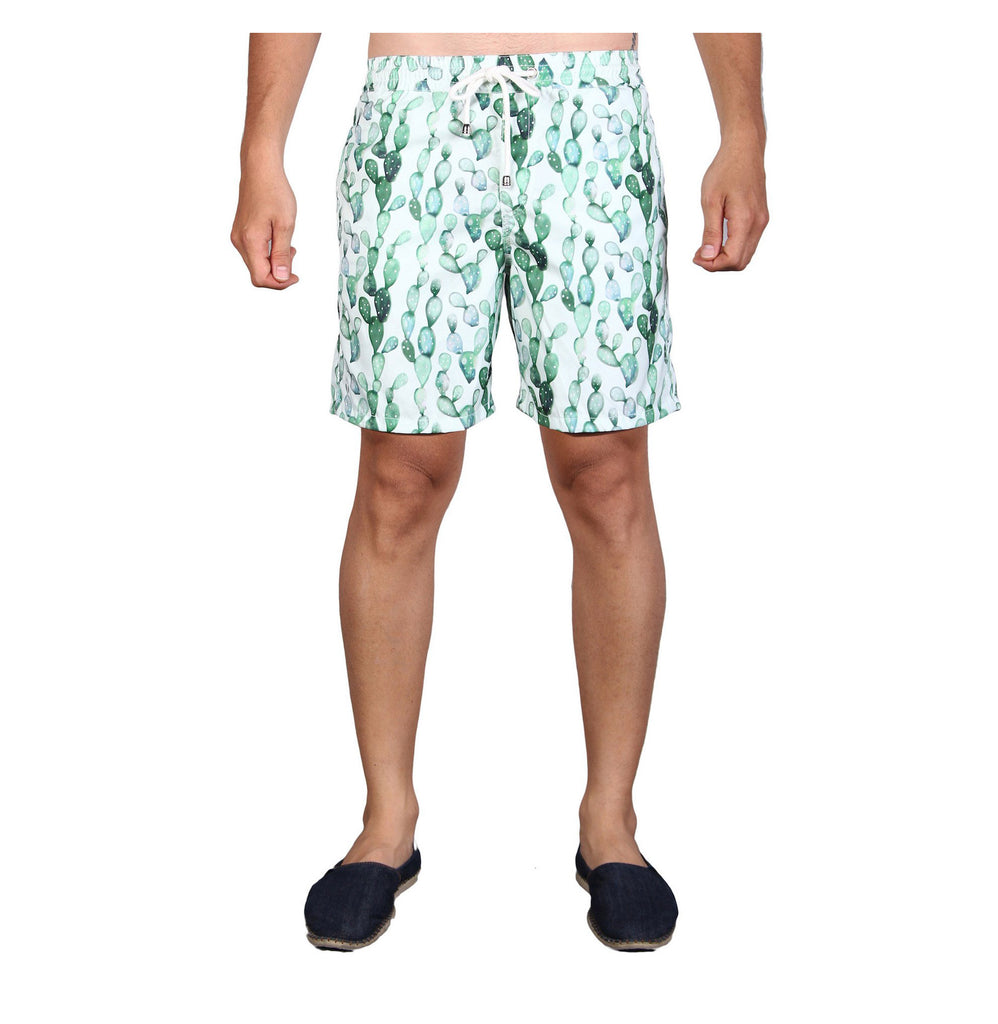 NUSA BOARDSHORTS in Cactus (knee length)