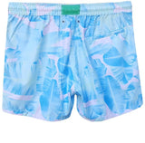 LAGUNA BOARDSHORTS in Aqua Palms (Mid length)