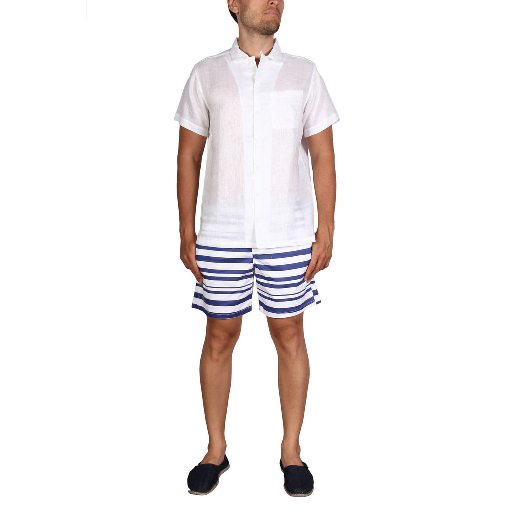 RESORT SHIRT - WHITE LINEN