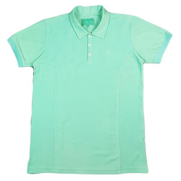 SEAMIST POLO - MINT TOWELLING