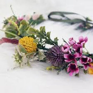 Mudgee florist Mudgee Monkey is a local based florist in the Mudgee Area. Pictured is a  native flower crown