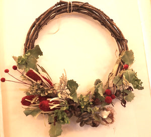 Dried and Preserved Flower Wreath