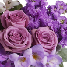 Load image into Gallery viewer, mudgee florist Mudgee Monkey is a local based florist in the Mudgee Area. Pictured is  shades of purple flowers