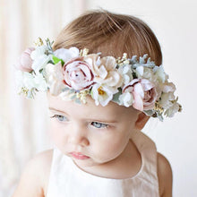 Load image into Gallery viewer, Mudgee florist Mudgee Monkey is a local based florist in the Mudgee Area. Pictured is a pastel mix  flower baby crown