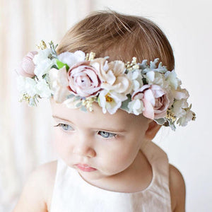 Mudgee florist Mudgee Monkey is a local based florist in the Mudgee Area. Pictured is a pastel mix  flower baby crown