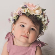 Load image into Gallery viewer, Mudgee florist Mudgee Monkey is a local based florist in the Mudgee Area. Pictured is  pink flower childs full flower crown,