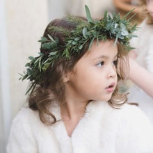 Load image into Gallery viewer, Mudgee florist Mudgee Monkey is a local based florist in the Mudgee Area. Pictured is foliage gum flower childs full flower crown,
