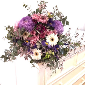 mudgee florist mudgee monkey.free delivery every day purple bouquet
