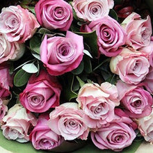 Load image into Gallery viewer,  Mudgee florist Mudgee Monkey is a local based florist in the Mudgee Area. Pictured is a generous bouquet row mixed pink roses Valentines day Free delivery and mothers day
